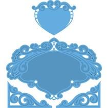 Marianne Design, Petra hjerte, 15x16cm, LR0280