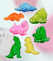 GIESSFORM / MOLDS ACCESOIRES Seifengießform, Dinos, 7 pezzi 4,5 cm