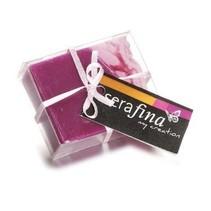 Grandes esencias de perfume de jabón Serafina Paradiso, 6,5 x5, 3x2cm, 65g