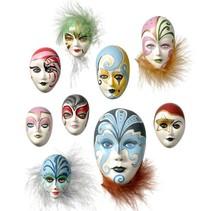 Molde: Máscaras Mini joyería, 4-8cm, sin decoración, 9 piezas, 130 g de necesidades de material.