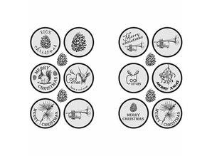 Embellishments / Verzierungen Selvklæbende mærkat design med en mat finish - fra Vivi Gade Design