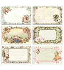 Embellishments / Verzierungen 30 pretty picture Notecards - Delight, 30 pieces, 12,7 x7, 62cm