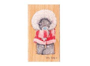 Me to You Mig til dig, laset teddy, træ stempel, HM STAMP - Winter Wonderland