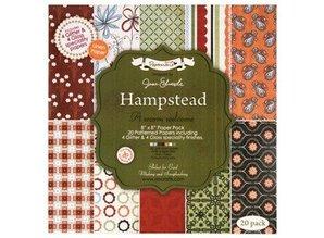 DESIGNER BLÖCKE  / DESIGNER PAPER 20x20cm, designer paper, specialty paper pack - hampstead by jesse edwards, 20 sheets
