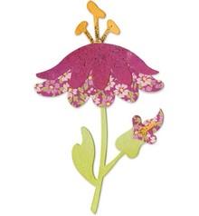 Sizzix Stempling skabelon, blomst