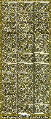 Sticker Glitter dekorative mærkat, 10 x 23cm, stjerner.