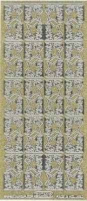 Sticker Glitter Ziersticker, 10 x 23cm, große Sterne.