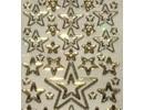 Sticker Glitter decorative sticker, 10 x 23cm, stars, different size.