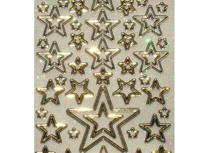 Sticker Glitter Ziersticker, 10 x 23cm, stjerner, forskellige størrelse.