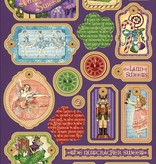 Graphic 45 Nutcracker Søde Chip Boards & Stickers