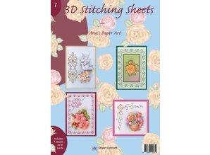 Bücher und CD / Magazines Libro con hojas de costura en 3D y No.1