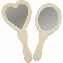 ranked Hand Mirror, 23-24 cm, wood, 2