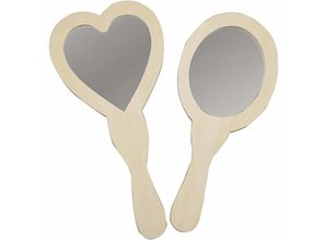 Objekten zum Dekorieren / objects for decorating classificato Specchietto, 23-24 cm, in legno, 2