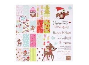 Docrafts / Papermania / Urban paper pack, 15 x 15cm (160gsm) - h & h festive frolics (40pk)