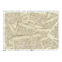 Decoupage, Precious Soft Paper 35x50cm, Precious Letters.