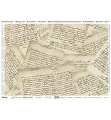 DECOUPAGE AND ACCESSOIRES Decoupage, Precious 35x50cm softpaper, lettere preziosi.