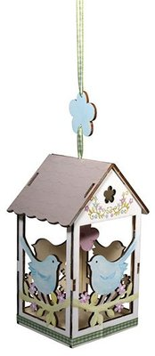 Objekten zum Dekorieren / objects for decorating 2 wooden birdhouse, 6x4,5cm