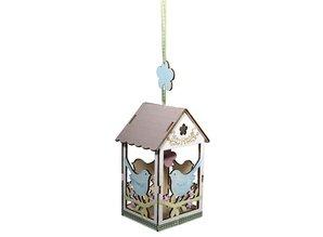 Objekten zum Dekorieren / objects for decorating 2 wooden birdhouse, 6x4,5cm