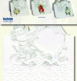 KARTEN und Zubehör / Cards 3 angel kaarten + 3 enveloppen in wit