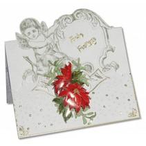 3 engel-kort + 3 konvolutter i hvidt