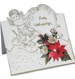 KARTEN und Zubehör / Cards 3 Engelkarten + 3 Umschläge in weiß