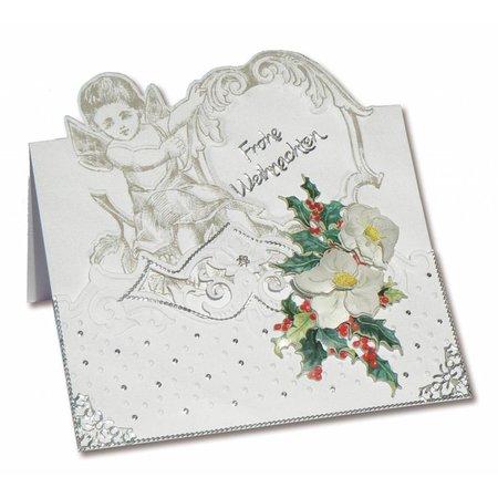 KARTEN und Zubehör / Cards 3 Tarjetas ángel + 3 sobres en blanco