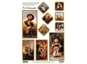 "BILDER / PICTURES: Studio Light, Staf Wesenbeek, Willem Haenraets Stanzbogen: ""MI HUMMEL"", 1 sheet A4 with different motifs"