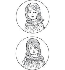 """Stempel / Stamp: Transparent Marianne design timbro: """"Ladies Vintage"""", 2 Temi"""