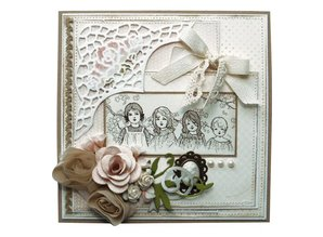 "Stempel / Stamp: Transparent Marianne Design stempel: ""Vintage Ladies"", 2 Temaer"