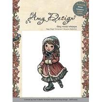 Amy Design - Rubber Stamp - Skating pige