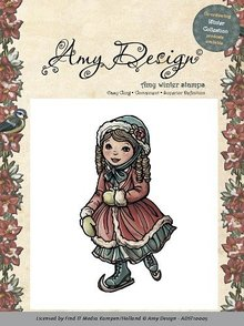 Amy Design Amy Design - Rubber Stamp - Skating girl