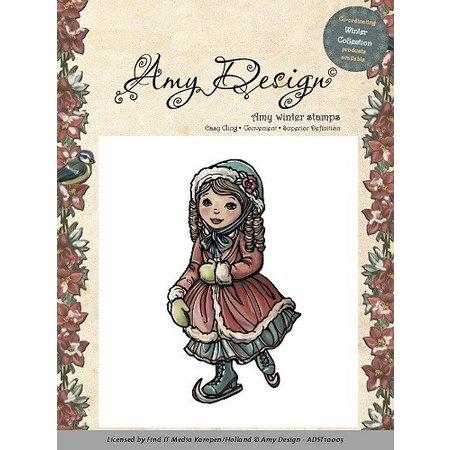 Amy Design Amy Design - Rubber Stamp - Skating pige