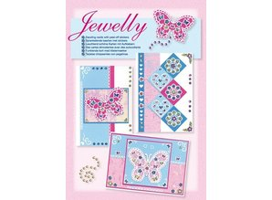 Komplett Sets / Kits Craft Kit, Jewelly Butterflies set, bright beautiful cards with sticker