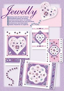 Komplett Sets / Kits NEW; Bastelset, Jewelly Floral set, bright beautiful cards with sticker