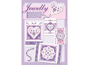 Komplett Sets / Kits Craft Kit, Jewelly Floral set, bright beautiful cards with sticker