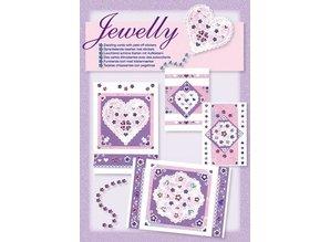 Komplett Sets / Kits Craft Kit, Jewelly Floral set, bright beautiful cards with sticker