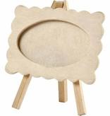 Objekten zum Dekorieren / objects for decorating Ramme på et staffeli, størrelse 13,2 x11, 5 cm. træ