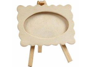 Objekten zum Dekorieren / objects for decorating Frame on an easel, size 13,2 x11, 5 cm. wooden