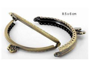 Embellishments / Verzierungen 1 Taschen metal beslag i antik guld