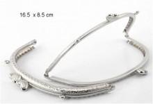 Embellishments / Verzierungen NOVITA ': 1 Taschen staffa di metallo con il video tutorial qui il prodotto!