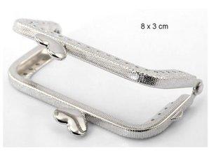 Embellishments / Verzierungen 1 soporte de Taschen metal, 6 x 8 cm, con instrucciones en vídeo