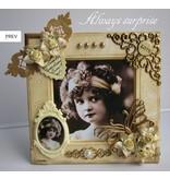 Embellishments / Verzierungen 2 schöne Bilderrahmen aus hochwertigem Karton, inklusive Umschläge.