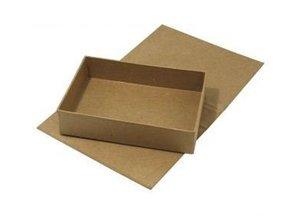 Tante Ema Papier-mâché, hinged-lid box, 13x19x4, 5 cm, inner part loose