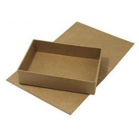 Tante Ema Papel maché, caja con tapa articulada, 13x19x4, 5 cm, parte interior suelta