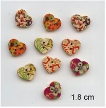 Embellishments / Verzierungen 10 agradable, botones del corazón, 1,8 cm