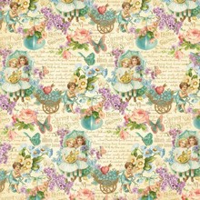 "Designer Papier Scrapbooking: 30,5 x 30,5 cm Papier NEW: Great Designer paper, ""sweet sentiments"", 1 sheet 30,5 x 30,5cm"