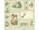 """Designer Papier Scrapbooking: 30,5 x 30,5 cm Papier NUOVO: Grande carta Designer, """"sentimento dolce, la primavera è in aer"""", 1 foglio 30,5 x 30,5 centimetri"""
