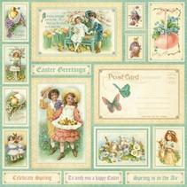 "NEU: Tolles Designerpapier,"" sweet Sentiments, Spring is in the aer"", 1 Blatt 30,5 x 30,5cm"