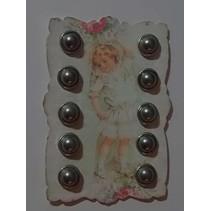10 Madre de la perla de clavitos, 12mm