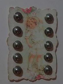 Embellishments / Verzierungen 10 perlemor Brads, 12mm